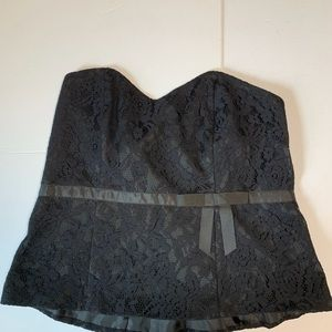 Lane Bryant strapless lace corset top size 18